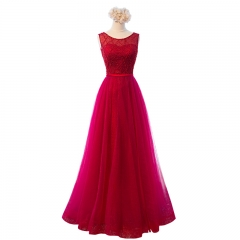 New Style Simple Long Style Lace Tulle Beading Bridesmaid Dresses BZ07