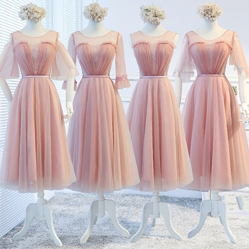 Lace Tulle  Short Style Chiffon Bridesmaid Dresses BZ10