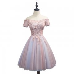 Lace Tulle  Short Style Coloring Bridesmaid Dresses BZ16