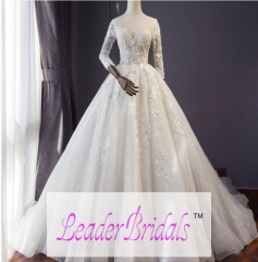 Lace Applique Beading Luxurious Wedding Dresses Bridal Dress WZ61