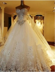 Luxurious Beading Wedding Dresses Bridal Dress WZ60