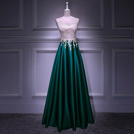 New Style Long Style Lace Applique Bridesmaid Dresses BZ27