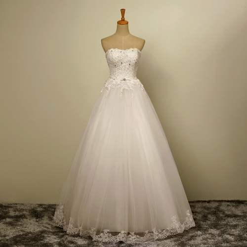 Lace Vestido De Noiva 2019 Wedding Dresses Ball Gown Sweetheart Tulle Lace Crystals Boho Cheap Wedding Gown Bridal Dresses WZ59