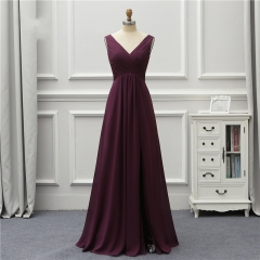 Formal Long Evening Dress 2020 New Arrival V Neck Back Open Leg Party Robe De Soiree Vestido De Festa EZE09