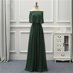 Formal Long Fashion Eveni New Off The Shoulder Green Robe De Soiree Vestido De Festa  EZE07