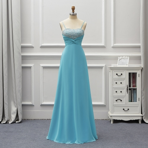 Fashion Blue Long Evening Dresses 2020 New Sexy Girl Prom Dresses For Wedding vestidos de fiesta de noche robe de soiree EZE05