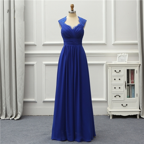 Formal Long Fashion Evening Dress 2020 New Royal Blue Chiffon Robe De Soiree Vestido De Festa OL5244 Prom Gowns EZE06
