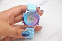Colorful stainless steel TOUS watch