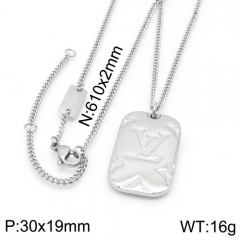 YA200703-LVXL008S 316 stainless steel LV necklace