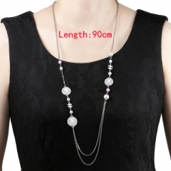 HY200710-N1049-2  stainless steel Chane*l necklace