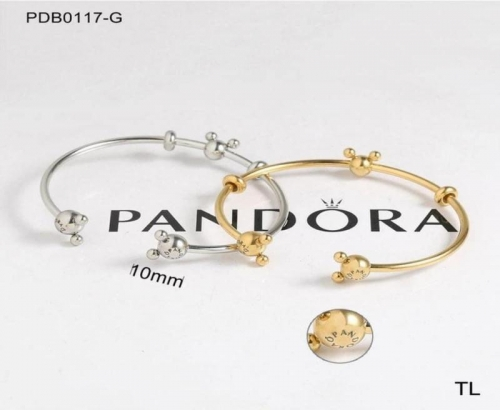 S200710-PDB0117-G Stainless steel pandor*a Bangle