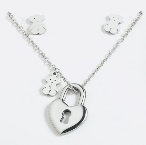 Stainless steel Tou*s Jewelry Set  S201010-PCS8162-S