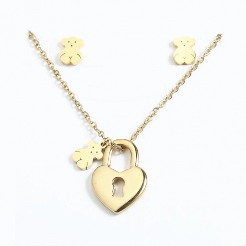 Stainless steel Tou*s Jewelry Set  S201010-PCS8162-G