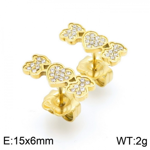 Stainless Steel Tou*s Earring D201020-ED-132G