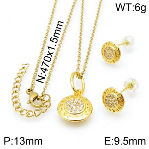 Stainless Steel Tou*s  Jewelry Set D201020-TZ-150G
