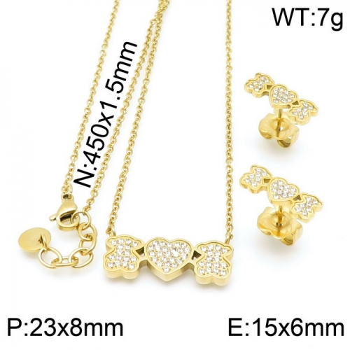 Stainless Steel Tou*s  Jewelry Set D201020-TZ-155G