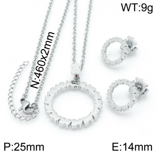 Stainless Steel Tou*s  Jewelry Set D201020-TZ-154S