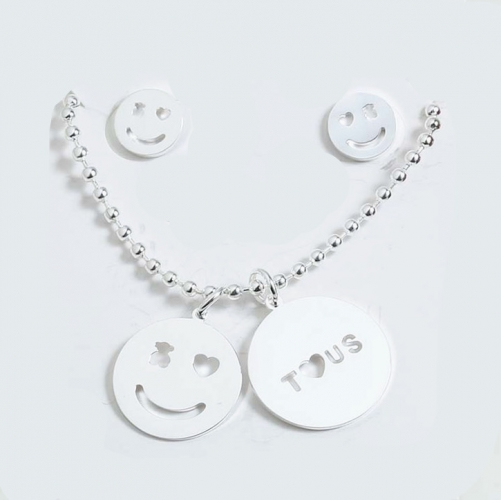 925 silver Tou*s  Jewelry Set S201020-PCS3924-SI