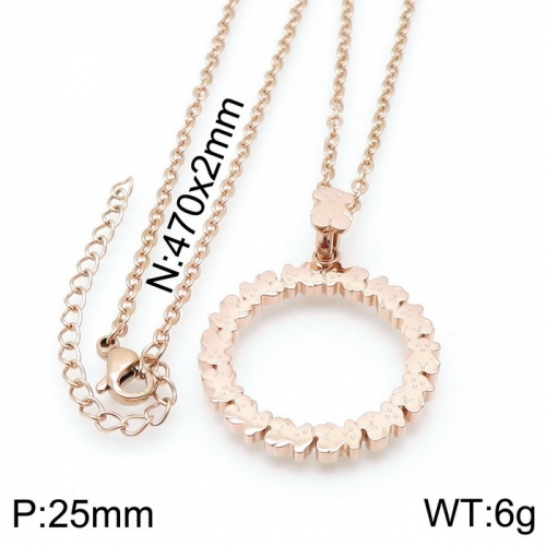 Stainless Steel Tou*s  Necklace D201020-XL-085R