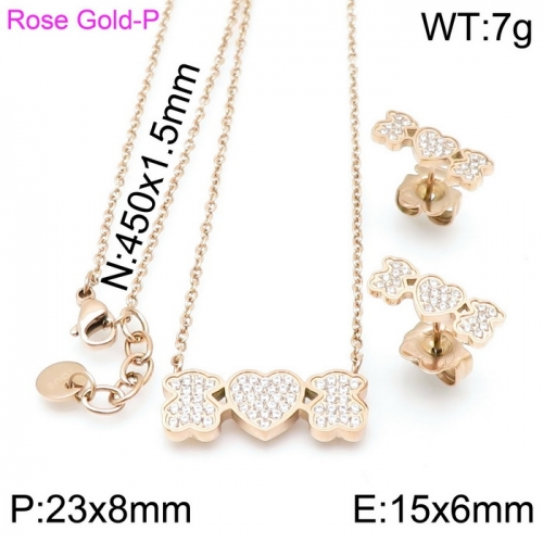 Stainless Steel Tou*s  Jewelry Set D201020-TZ-155R