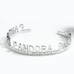 Stainless Steel Pandor*a Bangle SN201022-PDB0154-S