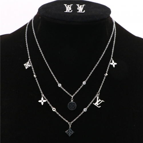 Stainless steel  LV Jewelry Set TZ368G
