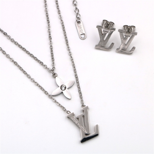 Stainless steel  LV Jewelry Set TZ364G