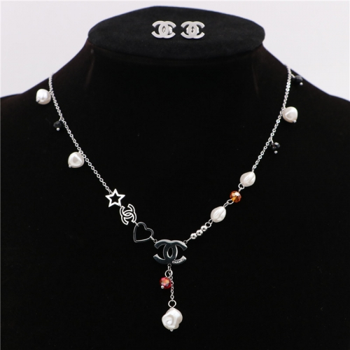 Stainless steel  Chane*l  Jewelry Set TZ365G