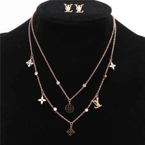Stainless steel  LV Jewelry Set TZ368M