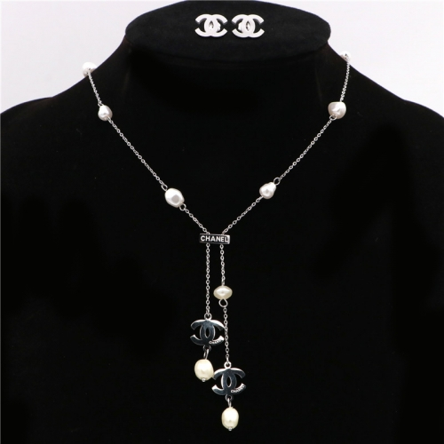 Stainless steel  Chane*l  Jewelry Set TZ367G