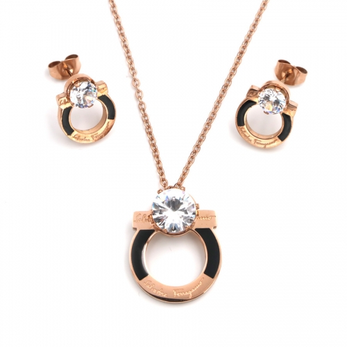 Stainless steel   Jewelry Set TZ352M