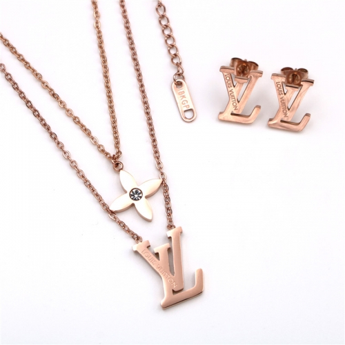 Stainless steel  LV Jewelry Set TZ364M