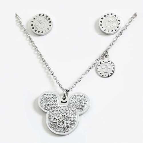 Stainless Steel Pandor*a  Jewelry Set S201020-PDS0224-S-W
