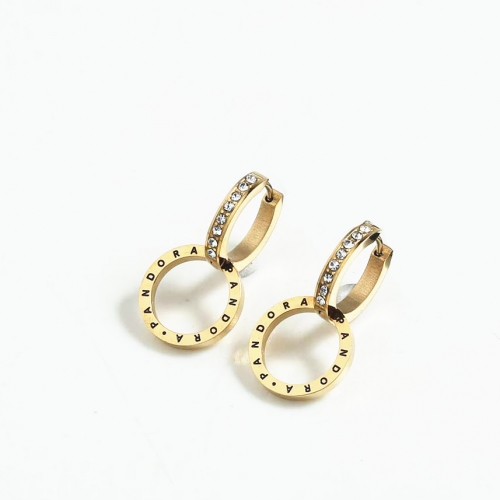 Stainless steel Pandor*a Earring PDE0050-G