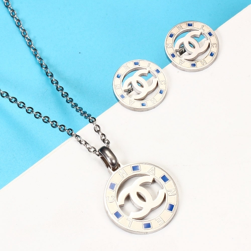 Stainless steel Brand jewelry set HY210107-ecbf018