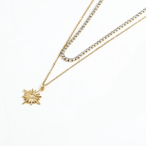 Stainless steel  Necklace N7005-G