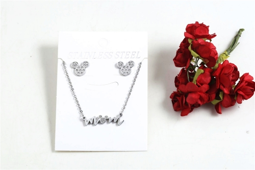 Stainless steel Mickey jewelry set SN210227-S7043-S