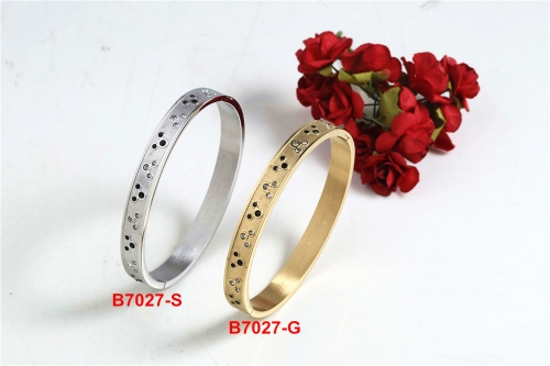 Stainless steel Mickey Bangle SN210227-B7027-S