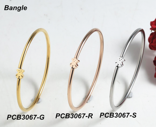 Stainless Steel TOU*S Bangle PCB3067-G
