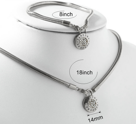 Stainless steel Pandra jewelry set  PDS0041-S