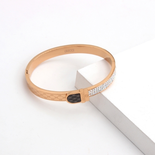 Stainless Steel Brand Bangle HY210413P2475