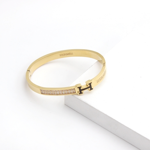Stainless Steel Brand Bangle HY210413P2368