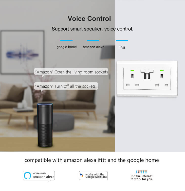 voice activated electrical outlet