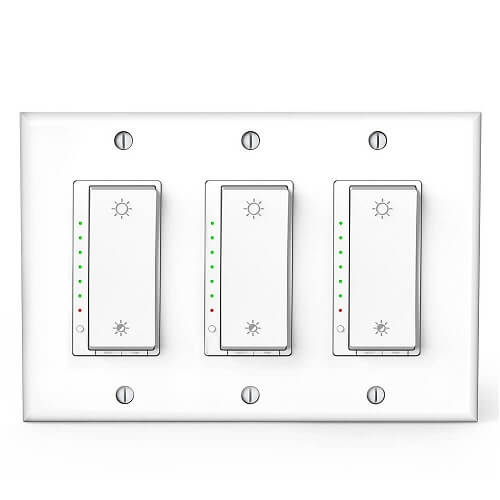 triple dimmer switch white