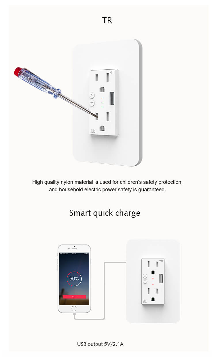 smart outlet with usb charging
