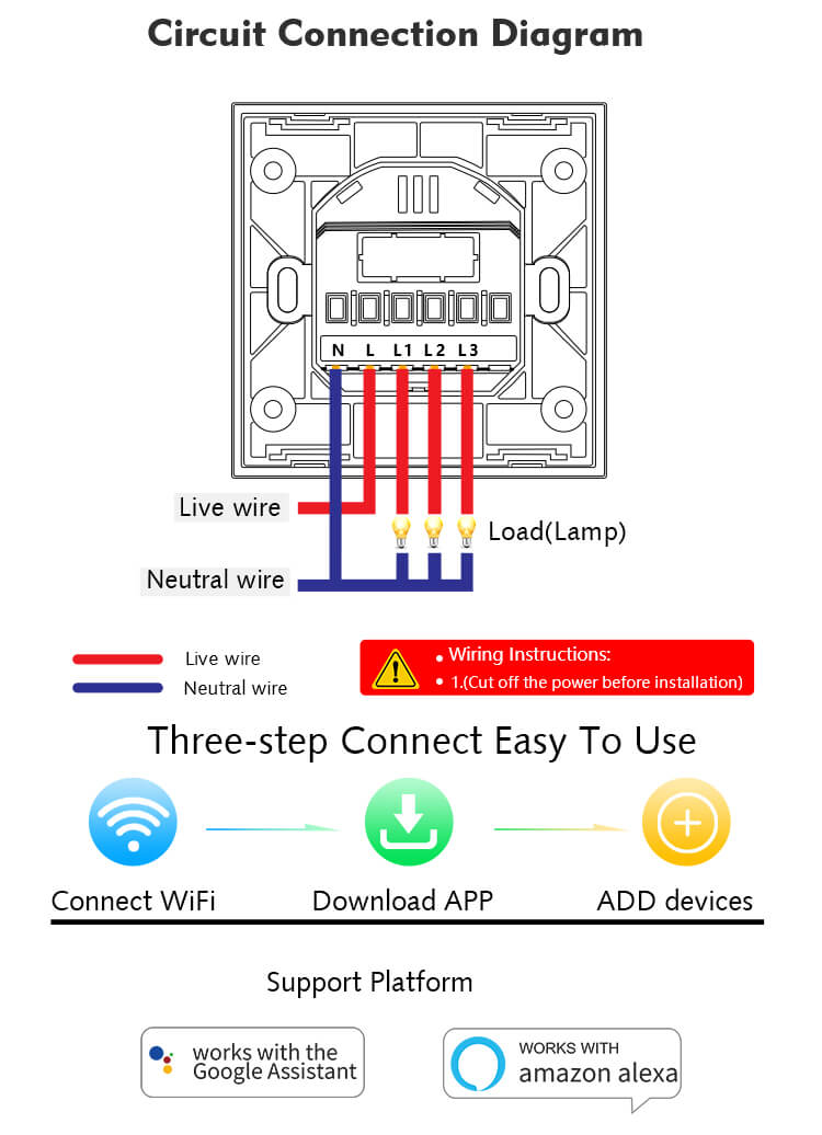 2 gang 1 way switch wiring diagram