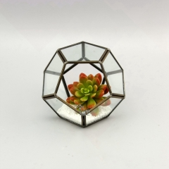 Glass Candle Holder Geometric Terrarium
