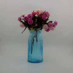 Wholesale Embossed Colored Glass Vase Flower And Wedding Vase