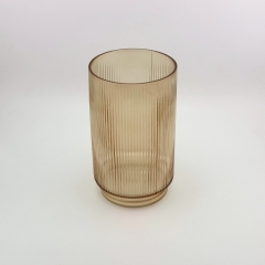 Colored Cylinder Glass Flower Vase Home Accessories Vase For Decoration