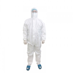 Wholesale PPE White CE and FDA Certificated Chemical Full Body Waterproof Disposable Protective Clothes